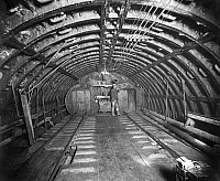 0234618 © Granger - Historical Picture ArchiveTRANSPORTATION.   USA, New York the Hudson River Tunnel between Jersey and Manhattan under construction, the end of the first air chamber with locks for the lorries transporting the excavated material, date unknown, around 1880.