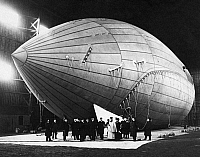 0235201 © Granger - Historical Picture ArchiveTRANSPORTATION.   Germany, avaition: filling the airship Suchard with lifting gas, it was designed to cross the Atlantic Ocean, date unknown, around 1911.