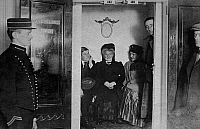 0235252 © Granger - Historical Picture ArchiveTRANSPORTATION.   Germany, passenger shipping, passengers in the lift of a steam ship, date unknown, around 1909.