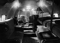 0235275 © Granger - Historical Picture ArchiveTRANSPORTATION.   Aviation, Airplanes: the cabin of a Farman airplane is equipped with comfortable seats and beds and with a bar - Photographer: Hans Henschke - Published by: 'B.Z.' 13.10.1928 Vintage property of ullstein bild.