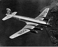 0235434 © Granger - Historical Picture ArchiveTRANSPORTATION.   Focke-Wulf (FW) 200 Condor airplane at the first non-stop flight Berlin - New York (captian Alfred Henke) - 10./11.8.1938.