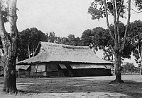 0236164 © Granger - Historical Picture ArchiveGEOGRAPHY.   French equatorial africa: Gabun - Lastourville house of an adminstrator inmidts a court surrounded by almond trees. 1911 Foto: M. Rol.
