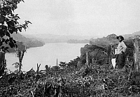 0236218 © Granger - Historical Picture ArchiveGEOGRAPHY.   French equatorial africa: Gabun View of the Ogooue (Ht. Ogooue) towards Franceville. 1911 Foto: M. Rol.