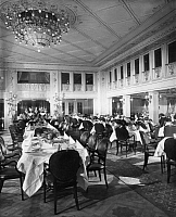 0236357 © Granger - Historical Picture ArchiveGEOGRAPHY.   Steamship Columbus of the shipping company Norddeutscher Lloyd. Dining-hall of the first class. - Photographer: Heinrich Engelke - 1924 Vintage property of ullstein bild.