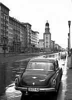 0237177 © Granger - Historical Picture ArchiveGEOGRAPHY.   German Democratic Republic - Ost-Berlin East Berlin: Stalinallee with Frankfurter Tor. - 10.06.1958.