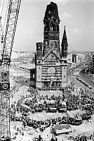0238080 © Granger - Historical Picture ArchiveGEOGRAPHY.   Germany, Berlin, Gedaechtniskirche. Ceremony on occasion of the laying the foundation stone of the new building of the church by the architect Egon Eiermann. 09.05.1959.