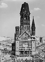 0238105 © Granger - Historical Picture ArchiveGEOGRAPHY.   Germany, Berlin, Gedaechtniskirche. Ceremony on occasion of the laying the foundation stone of the new building of the church by the architect Egon Eiermann. 09.05.1959.