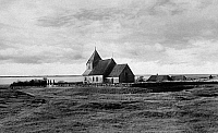 0238353 © Granger - Historical Picture ArchiveGEOGRAPHY.   Germany, Schleswig-Holstein, North Frisia, church at the North sea near Husum, date unknown, around 1930, photo by E. Thomsen.