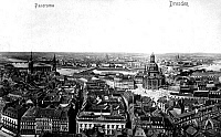 0238906 © Granger - Historical Picture ArchiveGEOGRAPHY.   Germany Saxonia Dresden: panorama on the right site: Frauenkirche (Church of Our Lady - around 1910.