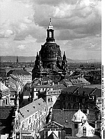 0238917 &copy; Granger - Historical Picture ArchiveGEOGRAPHY.   Germany, Dresden: view over the city with Frauenkirche, date unknown, probably 1930s </english).