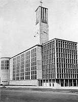 0239186 © Granger - Historical Picture ArchiveGEOGRAPHY.   Germany, Dortmund. Nicolai Church built by Pinno and Grund. Picture by Frankl 1930.