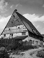 0239295 © Granger - Historical Picture ArchiveGEOGRAPHY.   German Empire Baden Free State Freiburg: Farmhouse in the village Haeusern in the Black Forest Series cooperative farmers - Photographer: Peter Weller - Published by: 'Koralle' 40/1935 Vintage property of ullstein bild.