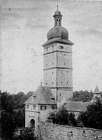 0239492 © Granger - Historical Picture ArchiveGEOGRAPHY.   German Empire - Bayern Koenigreich (Kingdom Bavaria) (-1918): Franconia, Dinkelsbuehl Segringertor tower, town gate in the town wall - Photographer: Froelich - - undated Vintage property of ullstein bild.