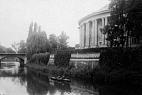0239543 © Granger - Historical Picture ArchiveGEOGRAPHY.   Germany, Bavaria Lower Franconia, Bad Kissingen: 'Regentenbau at the Saale river, date unknown, probably 1928, photo by Techno-Photographisches Archiv Hans Herzberg.