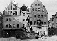 0239570 © Granger - Historical Picture ArchiveGEOGRAPHY.   Germany, Bavaria, Franconia, Nuremberg: Albrecht Duerer monument around 1900.
