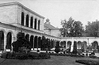 0239611 © Granger - Historical Picture ArchiveGEOGRAPHY.   Germany, Bavaria Lower Franconia, Bad Kissingen: spa gardens and arcades, date unknown, probably 1928, photo by Techno-Photographisches Archiv Hans Herzberg.