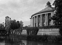 0239623 © Granger - Historical Picture ArchiveGEOGRAPHY.   Germany, Bavaria Lower Franconia, Bad Kissingen: 'Regentenbau at the Saale river, date unknown, probably 1931, photo by Kurverein Bad Kissingen.