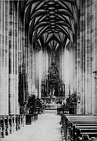 0239638 © Granger - Historical Picture ArchiveGEOGRAPHY.   German Empire - Bayern Koenigreich (Kingdom Bavaria) (-1918): Franconia, Dinkelsbuehl St. George's Minster, interior view - Photographer: Froelich - - undated Vintage property of ullstein bild.