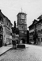 0239646 © Granger - Historical Picture ArchiveGEOGRAPHY.   Germany, Bavaria, Swabia, Wangen: the Ravenburger gate, date unknown, around 1929, photo by Atlantic.