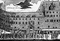 0239649 © Granger - Historical Picture ArchiveGEOGRAPHY.   Germany, Bavaria, Franconia, Nuremberg: Procession of ferriers. Etching by A.J. Trautner, 18th century.