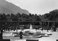 0239707 © Granger - Historical Picture ArchiveGEOGRAPHY.   Germany, Bad Reichenhall, rotunda in form of a rose, date unknown.