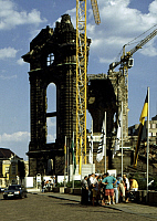0239809 © Granger - Historical Picture ArchiveGEOGRAPHY.   Germany Saxony Dresden - The ruin of the Frauenkirche, destroyed in World War II. before the beginning of reconstruction. - 24.04.1994.