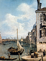0240607 © Granger - Historical Picture ArchiveGEOGRAPHY.   Paintings View of the Grand Canal in Venice - detail from a painting by Francesco Guardi - 18th century.