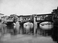 0240627 © Granger - Historical Picture ArchiveGEOGRAPHY.   Italy - Toskana Toscana Tuscany - Florenz Firenze Florence: Ponte Vecchio (old bridge), in the foreground the river Arno - 1900 Vintage property of ullstein bild.