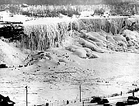 0241353 © Granger - Historical Picture ArchiveNATURE.   Niagara falls: iced falls in winter, 23.01.1940.