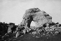 0241613 © Granger - Historical Picture ArchiveNATURE.   France - Midi-Pyrenees Midi Pyrenees Pyrenaeen: Departement Aveyron, Causse Noir: rock formation Chaos de Montpellier-le-Vieux, the rock 'Devil's Eye' - 1901 Vintage property of ullstein bild.
