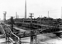 0241781 © Granger - Historical Picture ArchiveINDUSTRY.   I.G. Farbenindustrie A.G (IG Farben) - chemical plant. Leverkusen partial view 1927.