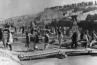 0241808 © Granger - Historical Picture ArchiveINDUSTRY.   USSR, Uzbekistan, Fergana Valley: local people and prisoner building the Fergana canal, 1930ies, 1939, photo by Max Alpert.