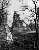 0241818 © Granger - Historical Picture ArchiveINDUSTRY.   Germany, North Rhine-Westphalia, Ruhr: smeltery Oberhausen AG, the furnace. January 1960.