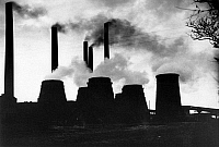 0241891 © Granger - Historical Picture ArchiveINDUSTRY.   I.G. Farbenindustrie A.G (IG Farben) - chemical plant Bitterfeld. Chimneys and cooling towers. 1933.