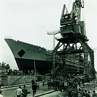 0241893 © Granger - Historical Picture ArchiveINDUSTRY.   China - Fuzhou: Ship is built in Mawei shipyard - 28.12.1978.