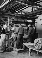 0242187 © Granger - Historical Picture ArchiveINDUSTRY.   I.G. Farbenindustrie A.G (IG Farben) - Buna - plant, Schkopau: Synthetic rubber packed in rolls. 1939.