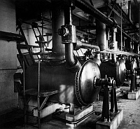 0242191 © Granger - Historical Picture ArchiveINDUSTRY.   I.G. Farbenindustrie A.G (IG Farben) - chemical plant. Fabrication of artificial silk (plant Leverkusen ?) In dissolving tanks caustic soda is added to the Xanthogenate. 1931.