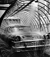 0242581 © Granger - Historical Picture ArchiveECONOMY.   USSR, Moscow: production of ZIL limousines at the car manufacturer 'Zavod Imeni Likhacheva', final cleaning of the limousine before leaving the company, 1970ies, photo by Valentin Khukhlaev.