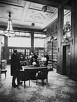 0242632 © Granger - Historical Picture ArchiveECONOMY.   jewellerer in Germany: the interior of the jewellery store of the Gebr. Friedlaender company in Berlin, Unter den Linden 4a, customer and employees, 1909.