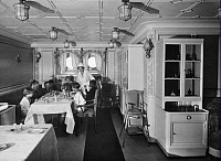 0242798 © Granger - Historical Picture ArchiveECONOMY.   Steamer Albert Ballin of the Hamburg-America line. Dining-room for children of the first class. - 1925 Vintage property of ullstein bild.
