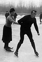 0243536 © Granger - Historical Picture ArchiveLEISURE.   Netherlands, Friesland. Ice skating. Date unknown around 1900.