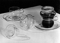 0243896 © Granger - Historical Picture ArchiveCELEBRATION.   German Empire: coffee filter of Jena glass - Photographer: Becker & Maass - 1937 Vintage property of ullstein bild.