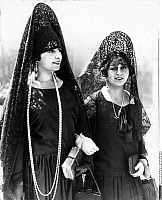 0244838 © Granger - Historical Picture ArchiveFASHION.   Spanish women wearing a Mantilla at Semana Santa. 1927.