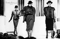 0245049 © Granger - Historical Picture ArchiveFASHION.   Germany, Berlin. KaDeWe department store. Louis Feraud fashion show. 1985.