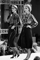 0245158 © Granger - Historical Picture ArchiveFASHION.   Germany, Berlin. Fashion show in the department store KaDeWe. Blouses and skirts by Louis Feraud. 1985.
