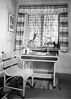 0245558 © Granger - Historical Picture ArchiveLIFESTYLE.   German Empire: rattan desk and chair designed by: Friedmann and Weber - 1934 Vintage property of ullstein bild.
