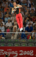 0261027 © Granger - Historical Picture ArchiveCHINA .   China - Peking Beijing: Olympic Games 2008 - Men's Gymnastics Artistic, team final - Fabian Hambuechen (GER) in action on the horizontal bar - 12.08.2008 *** Local Caption *** 01011087. Camera 4 Fotoagentur - ullstein bild / Granger, NYC -- All Rights Reserved.