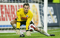 0261164 © Granger - Historical Picture ArchiveSTEFAN WACHTER .   Stefan Wachter - Goalkeeper, FC Hansa Rostock, Germany - in action on the ball - 25.11.2007 *** Local Caption *** 00948202. contrast/Pollack - ullstein bild / Granger, NYC -- All Rights Reserved.