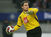 0261245 © Granger - Historical Picture ArchiveSTEFAN WACHTER .   Stefan Wachter - Goalkeeper, FC Hansa Rostock, Germany - in action on the ball - 25.11.2007 *** Local Caption *** 00948201. contrast/Pollack - ullstein bild / Granger, NYC -- All Rights Reserved.