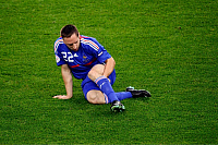 0261508 © Granger - Historical Picture ArchiveSWITZERLAND .   Switzerland - Zuerich: UEFA EURO 2008 - Group C, France v Italy 0:2 - Franck Ribery (R) of France sitting on the pitch, holding his injured leg after being challenged - 17.06.2008 Not-available-in-Italy-Austria-Switzerland-Netherlands! *** Local Caption *** 01011870. Pressefoto Ulmer - ullstein bild / Granger, NYC -- All rights reserved.